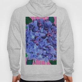 BLUE ABSTRACTED HYDRANGEA YELLOW-PINK Hoody