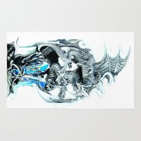 dragons Area & Throw Rugs featuring dragons by Moonlight Creations