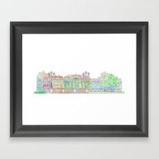 Watercolor Cityscape Framed Art Print