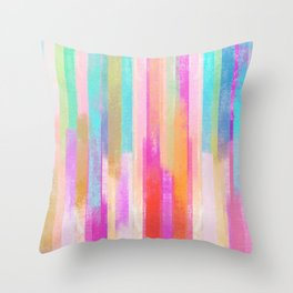 Boho Gypsy Watercolor Rain Throw Pillow