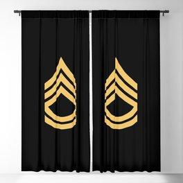Sergeant First Class (Gold) Blackout Curtain