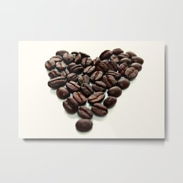 Coffee Hearts Metal Print