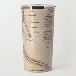 Anatomy of the Mermaid Travel Mug