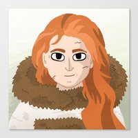 ygritte Canvas Prints featuring Ygritte by Matti