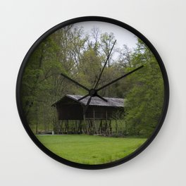 The Covered Bridge Wall Clock