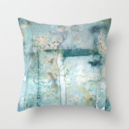 Water Damaged Throw Pillow