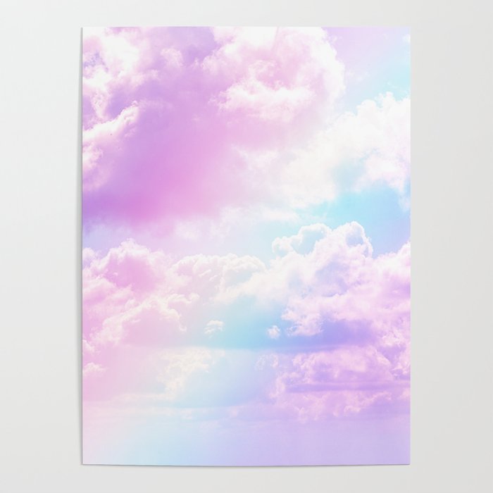 Pastel Rainbow Aesthetic Poster By The Thiiird Society6