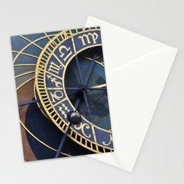Prague's astronomical clock Stationery Cards