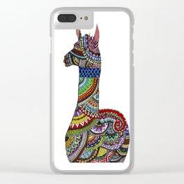 Llama Loud, Llama Proud Clear iPhone Case