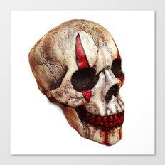 Circus Clown Skull Canvas Print