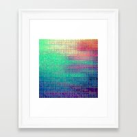 pixel art Framed Art Prints featuring piXel by 2sweet4words Designs