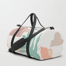 tropical minimal color block print Duffle Bag