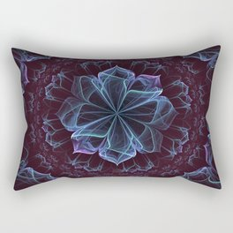 Ornate Blossom in Cool Blues Rectangular Pillow
