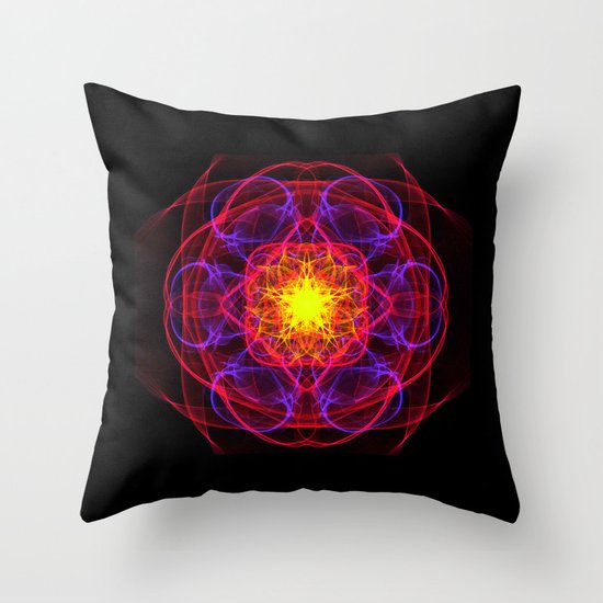 Silkweave / Neon Sigil 1 Throw Pillow