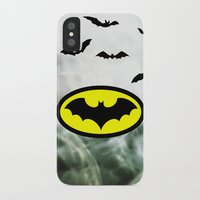 bat man iPhone & iPod Cases featuring Bat man  by haroulita