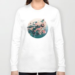Watermelon&Black cock Long Sleeve T-shirt