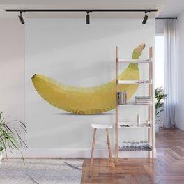 Low poly banana Wall Mural