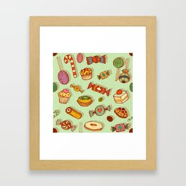 candy and pastries Framed Art Print