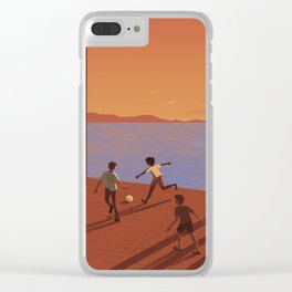 Dreaming the World Cup Clear iPhone Case
