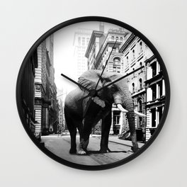 Street walker II Wall Clock