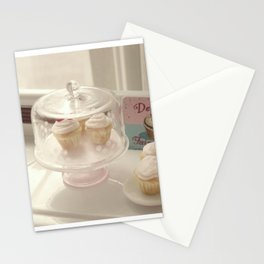 Vintage Cupcakes Stationery Cards