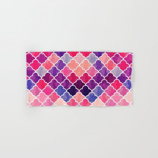 Watercolor Lovely Pattern VVXII Hand & Bath Towel