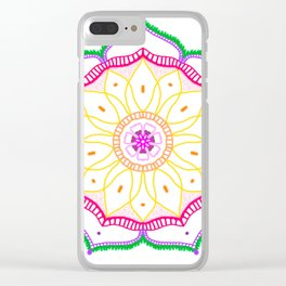 Mandala on white background. Clear iPhone Case