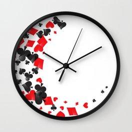 Poker game casino Wall Clock