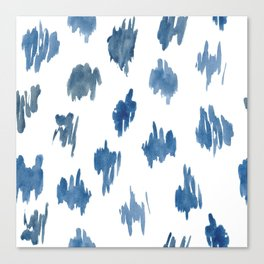 Brushstrokes of blue paint Canvas Print