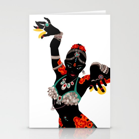 Tattooed Dancer Stationery Cards