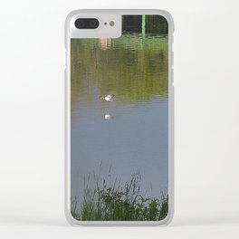 Summer Storm Clouds - Delaware River Clear iPhone Case