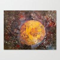 lunar Canvas Prints featuring Lunar  by Evan Hawley