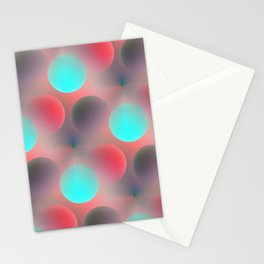 red and turquoise balls -2- Stationery Cards