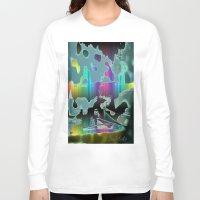 sail Long Sleeve T-shirts featuring Rainbow Sail by BeachStudio