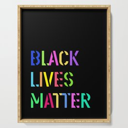 Black Lives Matter Colorful Stencil 1 Serving Tray