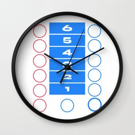 Ludo Game Blue Wall Clock