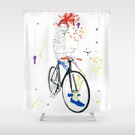 Bicycle Another Life-Cycle Shower Curtain