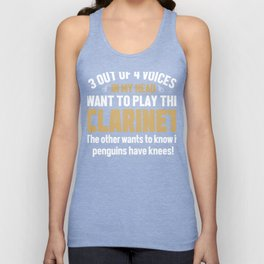 Clarinet Player Voices In My Head  Unisex Tank Top
