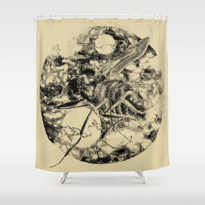 Fly Lash Shower Curtain