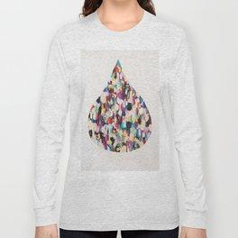 Oil Paint Rain Drop Long Sleeve T-shirt