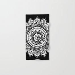 black and white mandala Hand & Bath Towel