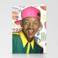 fresh prince Stationery Cards featuring Fresh Prince of Bel Air - Will Smith by Heather Buchanan