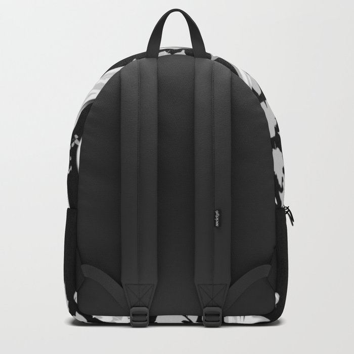 The Zen Tree - White on Black Backpack