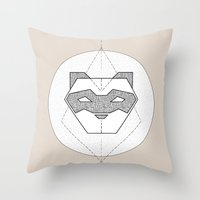 ferret Throw Pillows featuring Ferret Design by Cheeky Ferret