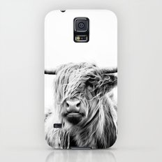 portrait of a highland cow Galaxy S5 Slim Case