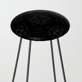 Dark Cube Counter Stool