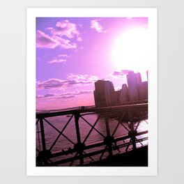 As the Sun Sets Art Print