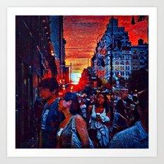 Manhattanhedge Sunset Art Print