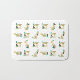Tangram animal pattern  Bath Mat