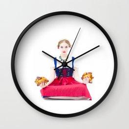 Lola Chicken Buddha Wall Clock